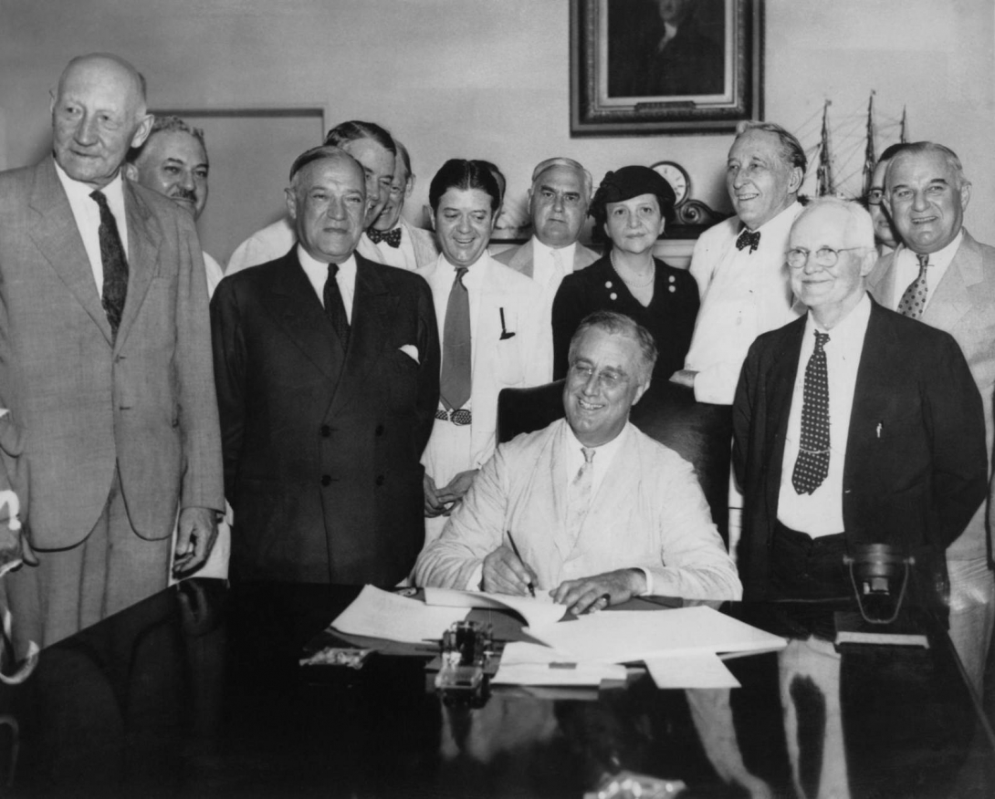 Social Security Act Signing