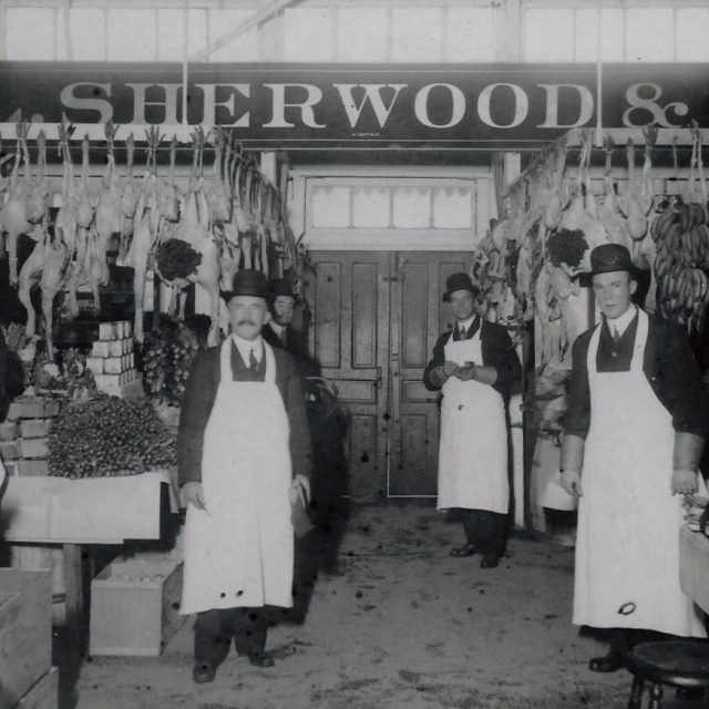 Sherwood family staff at Riggs Market in D.C. E MORRISON PHOTO