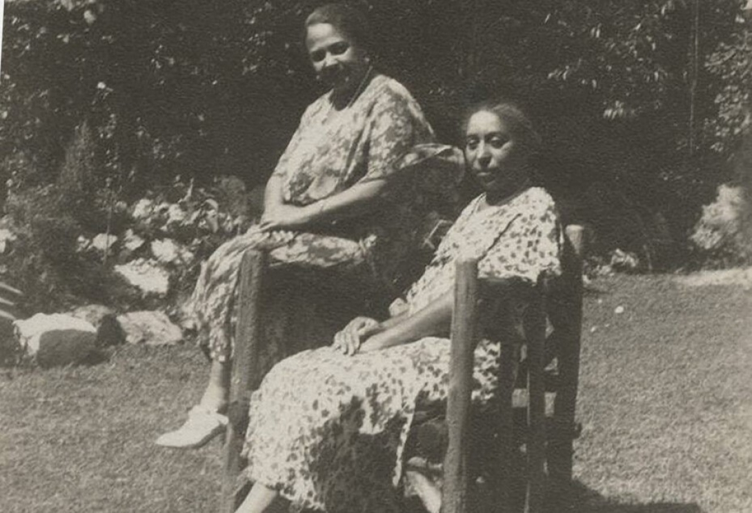 Mary Burrill and Lucy Diggs Slowe at Brookland home HOWARD UNIVERSITY
